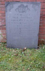 Isaac Chetham grave at St Mary's Church Nottingham